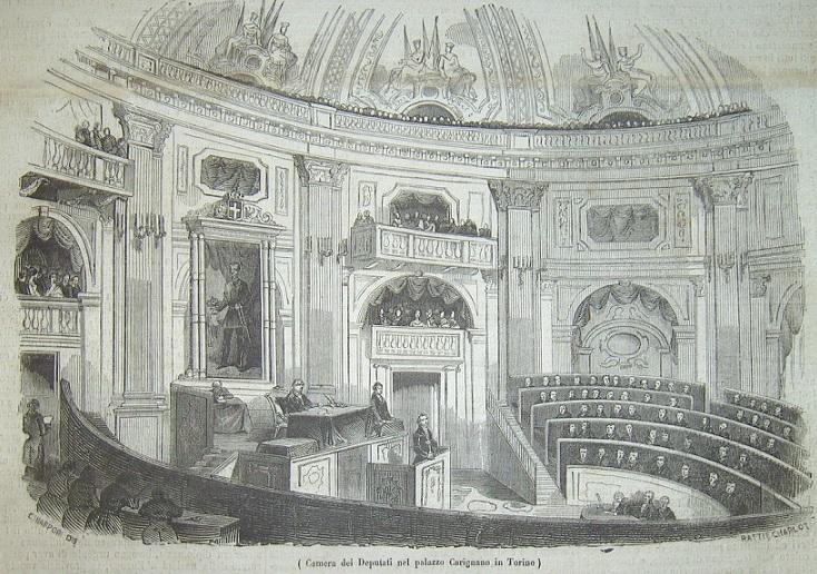 Palazzo carignano atlasfor for Parlamento italiano storia